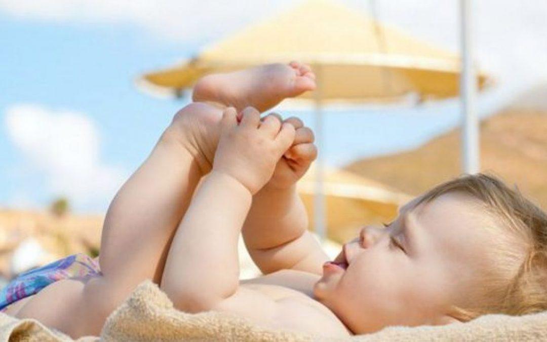 Alergia al sol en niños
